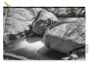 Shadows Of A Creek In Black And White Carry-all Pouch