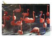 Shadows Of Pink Flamingos Carry-all Pouch