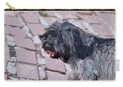 Shaggy Pup Abstract Carry-all Pouch