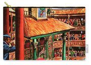 Shakespeare Performing At The Globe Theater Carry-all Pouch