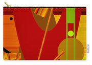 Shapes And Patterns In Red Carry-all Pouch