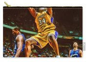 Shaquille O'neal Los Angeles Lakers Oil Art Carry-all Pouch