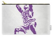 Shaquille O'neal Los Angeles Lakers Pixel Art Carry-all Pouch