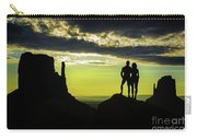 Sharing A Monument Valley Sunrise Carry-all Pouch