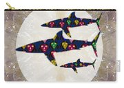 Shark Fish Dangerous Painted Cartoon Face Link For Download Option Below Personal N Commercial Uses Carry-all Pouch