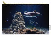 Shark In Zoo Aquarium Carry-all Pouch