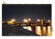 Shark River Inlet At Night Carry-all Pouch by Paul Ward