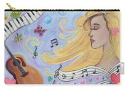 She Dreams In Music Carry-all Pouch