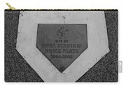 Shea Stadium Home Plate In Black And White Carry-all Pouch by Rob Hans