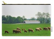 Sheep And Covered Bridge Carry-all Pouch
