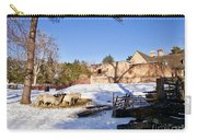 Sheep Farm In Winter Carry-all Pouch