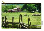 Sheep Grazing In Pasture Carry-all Pouch