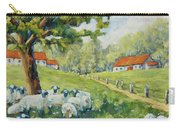 Sheep Huddled Under The Tree Farm Scene Carry-all Pouch