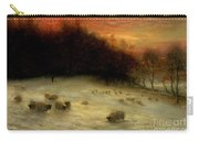 Sheep In A Winter Landscape Evening Carry-all Pouch