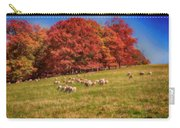 Sheep In The Autumn Meadow Carry-all Pouch