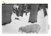 Sheep In Winter Carry-all Pouch