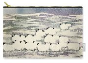 Sheep In Winter Carry-all Pouch by Suzi Kennett