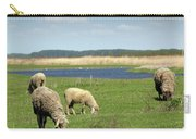 Sheep On Pasture Nature Farm Scene Carry-all Pouch
