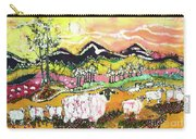 Sheep On Sunny Summer Day Carry-all Pouch