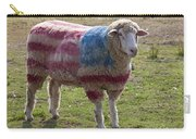 Sheep With American Flag Carry-all Pouch by Garry Gay