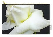 Sheer White Elegance - Rose Carry-all Pouch
