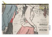 Sheet Music Dans Lxviiieme By Achille Bloch And Louis Byrec, Performed By Farville And Reschal Theo Carry-all Pouch