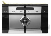Shelby Ford Mustang Trunk Lid And Badge In Black And White Carry-all Pouch