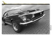 Shelby Gt500kr 1968 In Black And White Carry-all Pouch