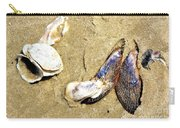 Shells On The Beach Of Jekyll Carry-all Pouch