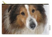 Sheltie In The Snow Carry-all Pouch