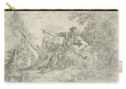 Shepherd Holding A Flute And Two Other Figures In A Landscape Carry-all Pouch