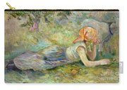 Shepherdess Resting Carry-all Pouch by Berthe Morisot