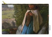 Shepherdess Seated On A Rock Carry-all Pouch