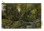Shepherds Next To A Brook By Thomas Creswick Carry-all Pouch