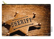 Sheriff Badge - Sepia Carry-all Pouch