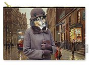 Shetland Sheepdog Art Canvas Print - Charleston Blue Carry-all Pouch