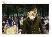 Shetland Sheepdog Art Canvas Print - Music In The Tuileries Gardens Carry-all Pouch