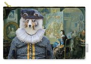 Shetland Sheepdog Art Canvas Print - The Painter And His Studio Carry-all Pouch