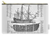 Ship Of War Plans Carry-all Pouch