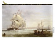 Shipping Off Hartlepool Carry-all Pouch by John Wilson Carmichael