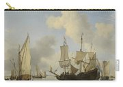 Ships At Anchor On The Coast  Willem Van De Velde II C 1660 Carry-all Pouch