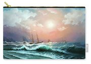 Ships In A Storm At Sunset Carry-all Pouch