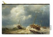 Ships In A Storm On The Dutch Coast Carry-all Pouch