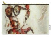 Shocked Scared Screaming Boy With Curly Red Hair In Glasses And Overalls In Acrylic Paint As A Loose Carry-all Pouch