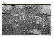 Shoe Print In Concrete Carry-all Pouch