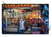 Shop Owner Standing In Front Of Poultry Shop On Temple Street Night Market Kowloon Hong Kong China Carry-all Pouch