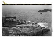 Shoreline And Shipwreck - Portland, Maine Bw Carry-all Pouch