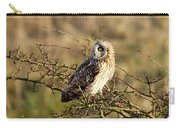 Short-eared Owl In Tree Carry-all Pouch