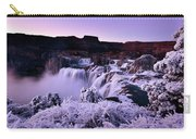 Shoshone Falls In Winter Carry-all Pouch