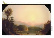 Shoshone Indians At A Mountain Lake Carry-all Pouch